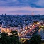 Gargoyle overlooking streets on Paris