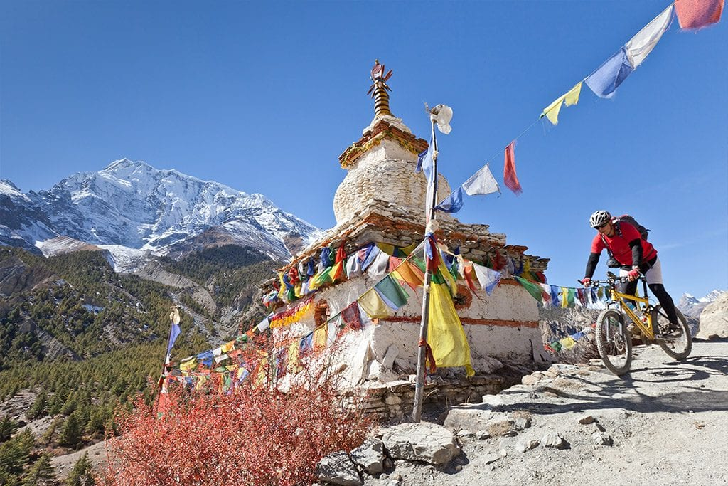 Mountain top temple Nepal